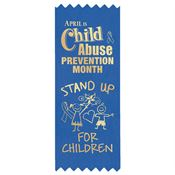 Stand Up For Children Blue Satin Self-Stick Ribbons