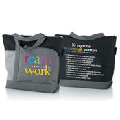 Teamwork Vista Tote Bag With 10 Reasons Why Teamwork Matters