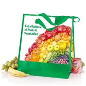 Fruits & Veggies Laminated Insulated Eco-Shopper Tote
