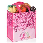 Hope, Faith, Courage, Strength Laminated Ribbon Eco-Shopper Tote