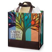 Caring Is Always In Season Full-Color Laminated Eco Gift Tote