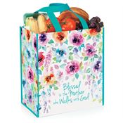 Blessed is the Mother Who Walks With God Non-Woven Laminated Tote
