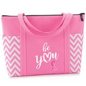 Be You Pink Chevron Tote