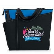 More Than Words Can Say You're Appreciated In Every Way Meadowbrook Tote Bag