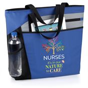 Nurses: It's In Our Nature To Care Blue Mercer Tote Bag