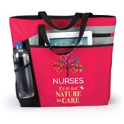 Nurses: It's In Our Nature To Care Red Mercer Tote Bag