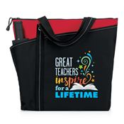Great Teachers Inspire For A Lifetime Meadowbrook Tote Bag