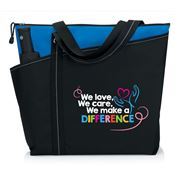 We Love, We Care, We Make A Difference Meadowbrook Tote