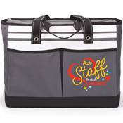 Our Staff Is All Heart Traveler Two-Pocket Tote Bag