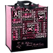 Words Of Inspiration Non-Insulated Laminated Shopper Tote - Personalization Available