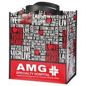 Love Your Heart Word Cloud Non-Insulated Laminated Eco-Shopper Tote with Personalization