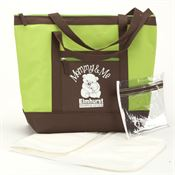 Green Seaside Insulated Tote With Changing Pad - Personalization Available