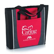 Caring It's What We Do Red Prime Zip Tote Bag - Personalization Available