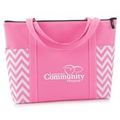 Pink Chevron Tote - Personalization Available