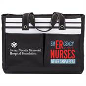 Emergency Nurses Never Skip A Beat Traveler Two-Pocket Tote Bag Plus Personalization