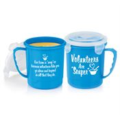 "Volunteers Are ""Souper"" Soup Mug With Locking Lid 24-Oz."