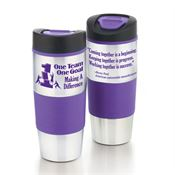 One Team One Goal Making A Difference Stainless Steel Color Grip Travel Tumbler