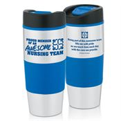 Proud Member Of An Awesome Nursing Team Stainless Steel Color Grip Travel Tumbler