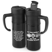 In This Family No One Stands Alone Montauk Insulated Travel Mug