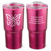 Butterfly Timber Insulated Stainless Steel Travel Tumbler 20-oz.