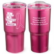 Be Bold, Be Fearless, Be Brave Timber Insulated Stainless Steel Travel Tumbler