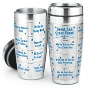 Great Lab, Great Team! Stainless Steel Message Tumbler 16-oz.