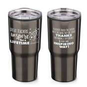 Great Teachers Inspire For A Lifetime Timber Insulated Stainless Steel Travel Tumbler 20-oz.