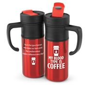 My Blood Type Is Coffee Montauk Insulated Travel Mug