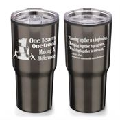 One Team One Goal Making A Difference Timber Insulated Stainless Steel Travel Tumbler 20-oz.