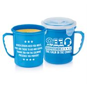 911 Dispatchers: The Calm In The Chaos Soup Mug With Locking Lid