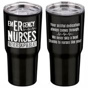 Emergency Nurses Never Skip A Beat Timber Insulated Stainless Steel Travel Tumbler 20-Oz.