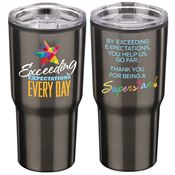 Exceeding Expectations Every Day Timber Tumbler Insulated Stainless Steel Travel Tumbler 20-Oz.