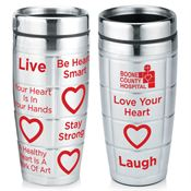 Stainless Steel Awareness Message Tumbler 16-oz. - Personalization Available