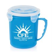 Blue Soup Mug With Locking Lid - Personalization Available