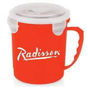 Red Soup Mug With Locking Lid 24-oz. - Personalization Available