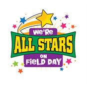 We're All Stars On Field Day Temporary Tattoo