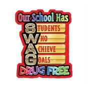 Our School Has Students Who Achieve Goals Drug Free Message Temporary Tattoos