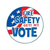 Fire Safety Gets My Vote Temporary Tattoos