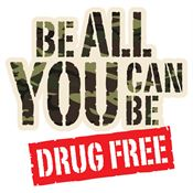 Be All You Can Be Drug Free Temporary Tattoos