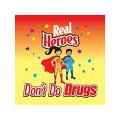Real Heroes Don't Do Drugs Temporary Tattoos