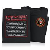 Firefighters: The Thin Red Line Short Sleeve T-Shirt
