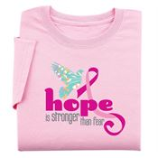 Hope Is Stronger Than Fear - Women's Cut Awareness T-Shirt