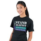 Take A Stand Against Sexual Assault & Domestic Violence Short-Sleeve T-Shirts
