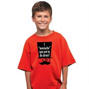 "I ""Mustache"" You Not To Do Drugs! Youth T-Shirt"