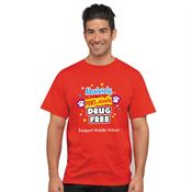 Absolutely PAWS-itively Drug Free! - Adult T-Shirt