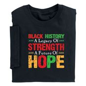 Black History: A Legacy Of Strength, A Future Of Hope Youth-Size T-Shirt