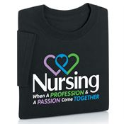 Nursing: When A Profession And A Passion Come Together Short-Sleeve T-Shirt
