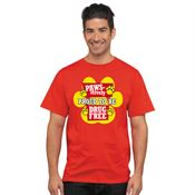 Pawsitively Proud To Be Drug Free! - Adult T-Shirt