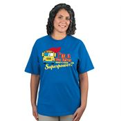 I'm A School Bus Driver What's Your Superpower? Royal Blue Short-Sleeve T-Shirt