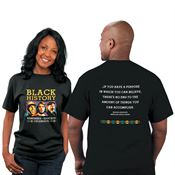 Black History: Remember, Educate, Celebrate 2-Sided Adult T-Shirt
